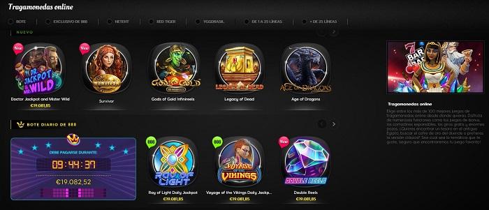 Tragamonedas en 888 casino